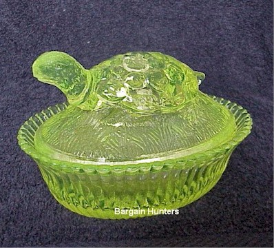 Turtle Covered Candy Dish, Bargain Shack offers Boyd Glass