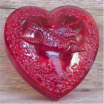 Heart Ring Box in Ruby